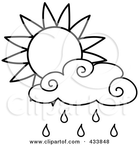 450x470 Royalty Free (Rf) Clipart Illustration Of An Outline Of A Sun