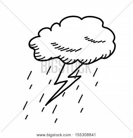 450x468 Thunderstorm Cloud Doodle Drawing Vector Amp Photo Bigstock