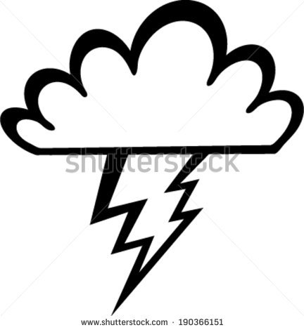 432x470 Thunderstorm Clipart Black And White Collection