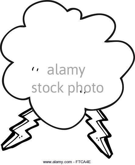 444x540 Cartoon Storm Cloud Black And White Stock Photos Amp Images