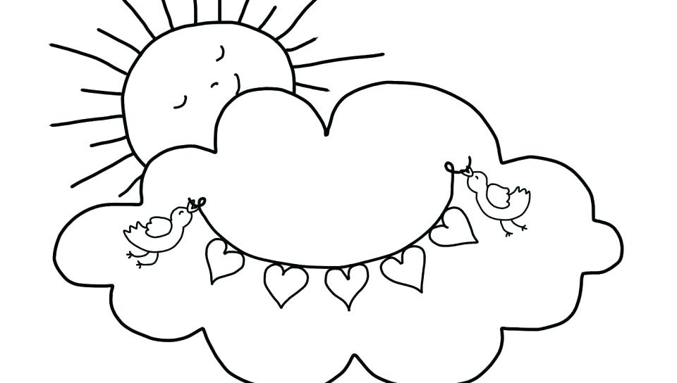 960x544 Clouds Coloring Page Cloud Pages Rainbow With On Coloring Pages