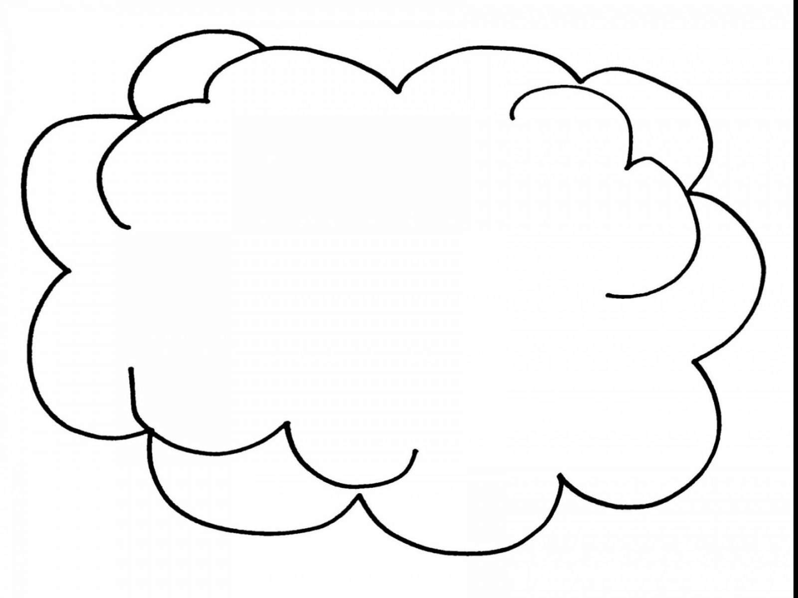 1600x1200 Clouds Coloring Page