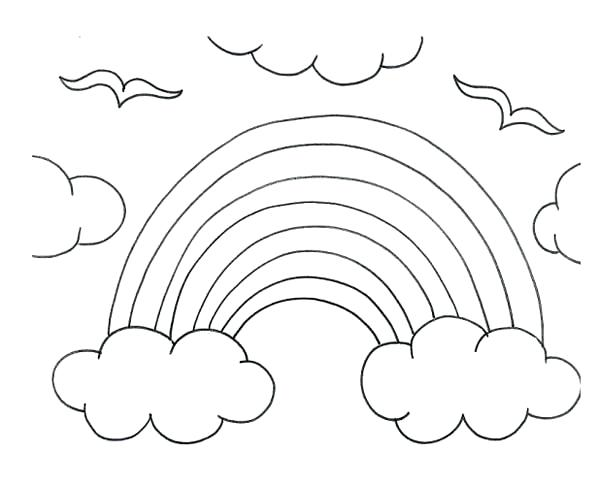 600x485 Coloring Pages Of Cloud Free Printable For Kids Storm Sheet Murs