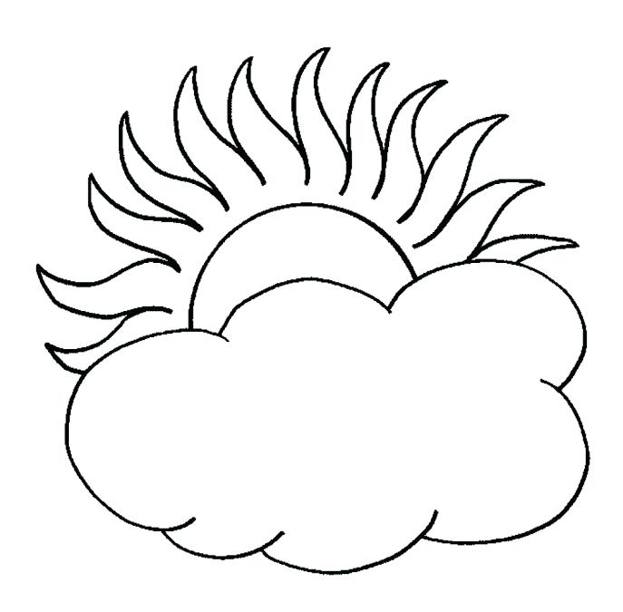 687x675 Cloud Coloring Page Cloud Coloring Pages Cartoon Clouds Storm