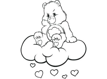 450x334 Cloud Coloring Sheet Care Bears Coloring Pages Care Bears Activity