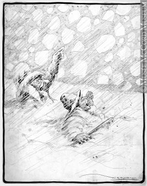 303x385 M2005.23.164 The Great Storm Drawing, Cartoon Arthur George