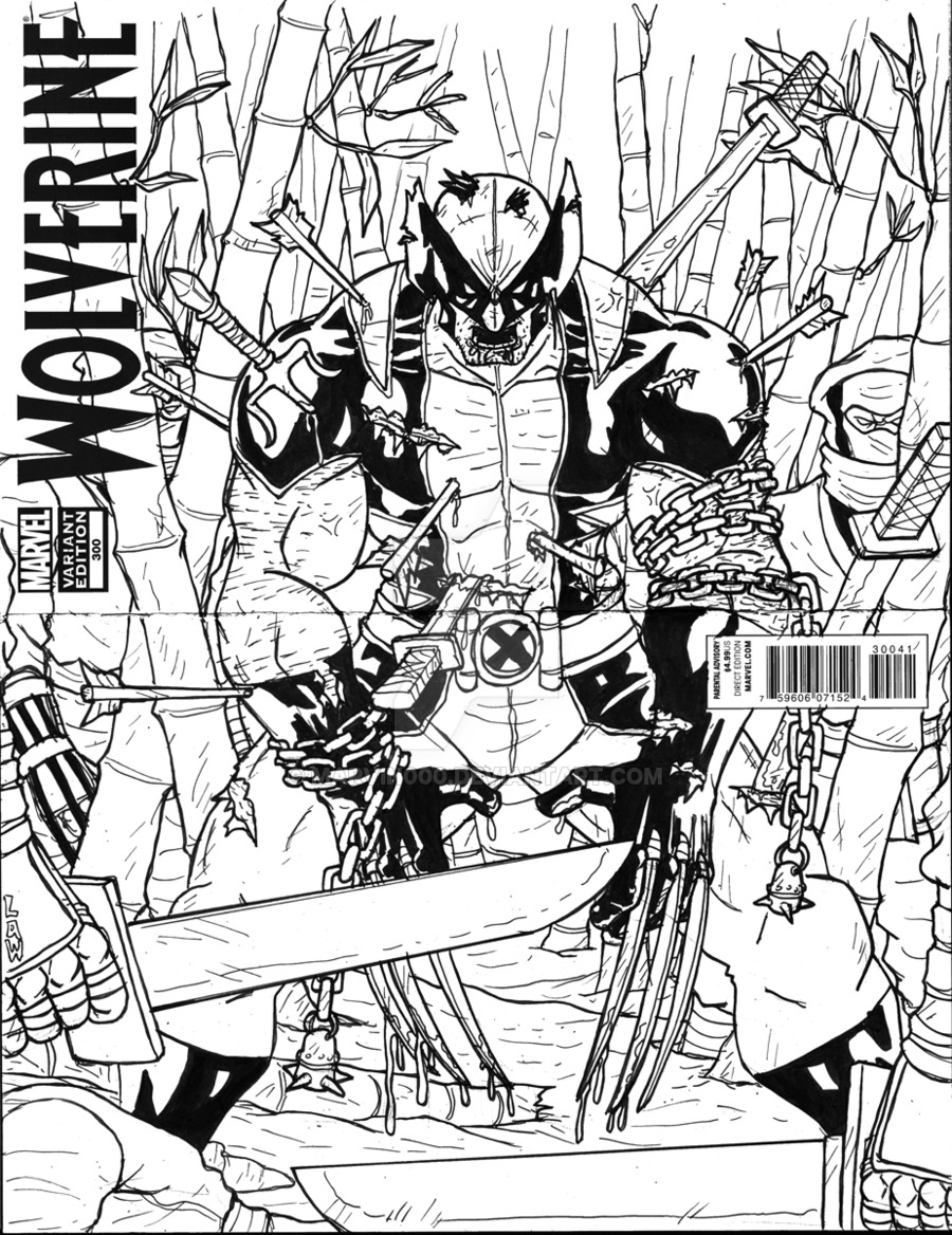 900x1168 Wolverine The Calm Before The Storm Sketch Cover By Marvin000