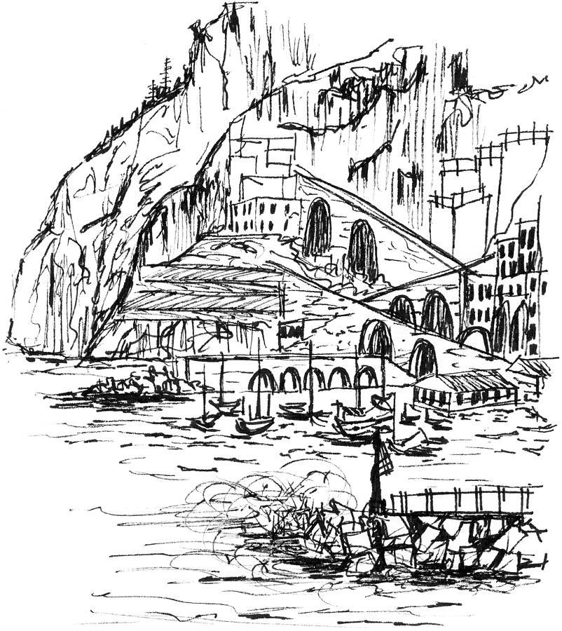 802x900 Amalfi Storm Drawing By Elizabeth Thorstenson