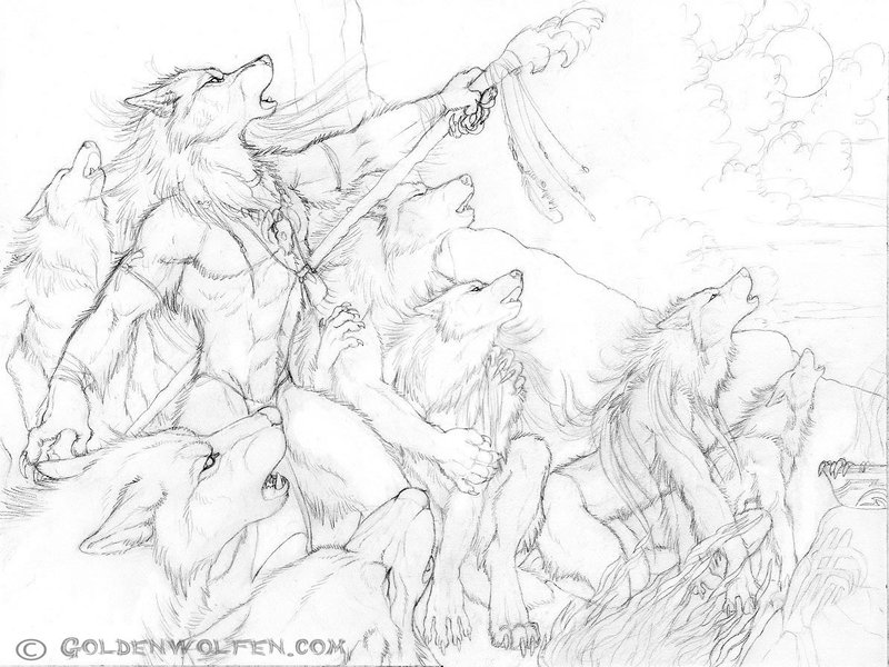 800x600 Calling The Storm Drawing By Goldenwolf