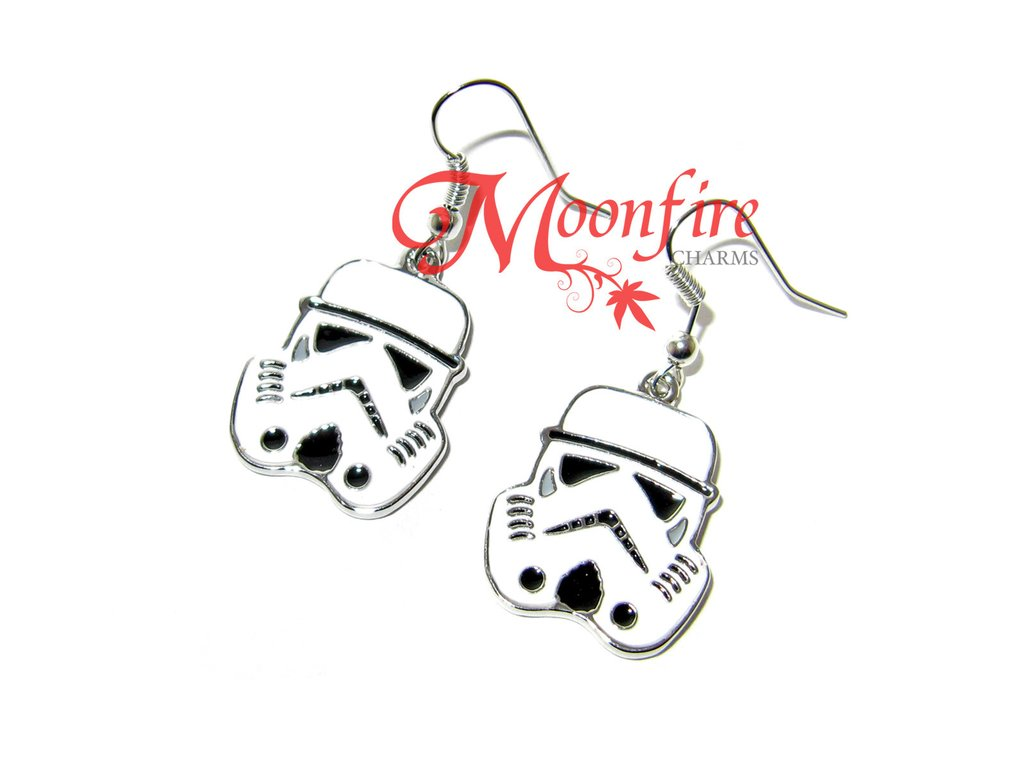 1024x768 Star Wars Stormtrooper Helmet Earrings Moonfire Charms