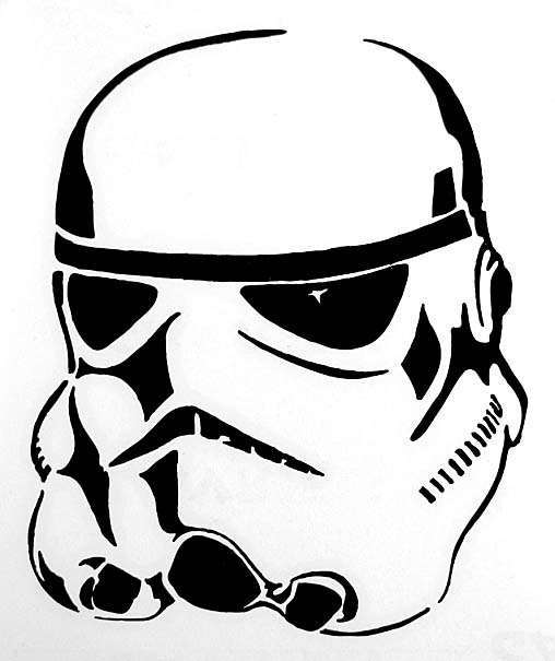 508x605 Star Wars Stormtrooper Black Vinyl Window Decal