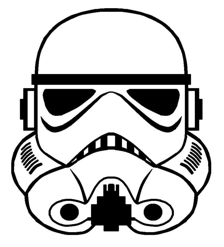 852x938 Storm Trooper Helmet Vector By Sabresteen