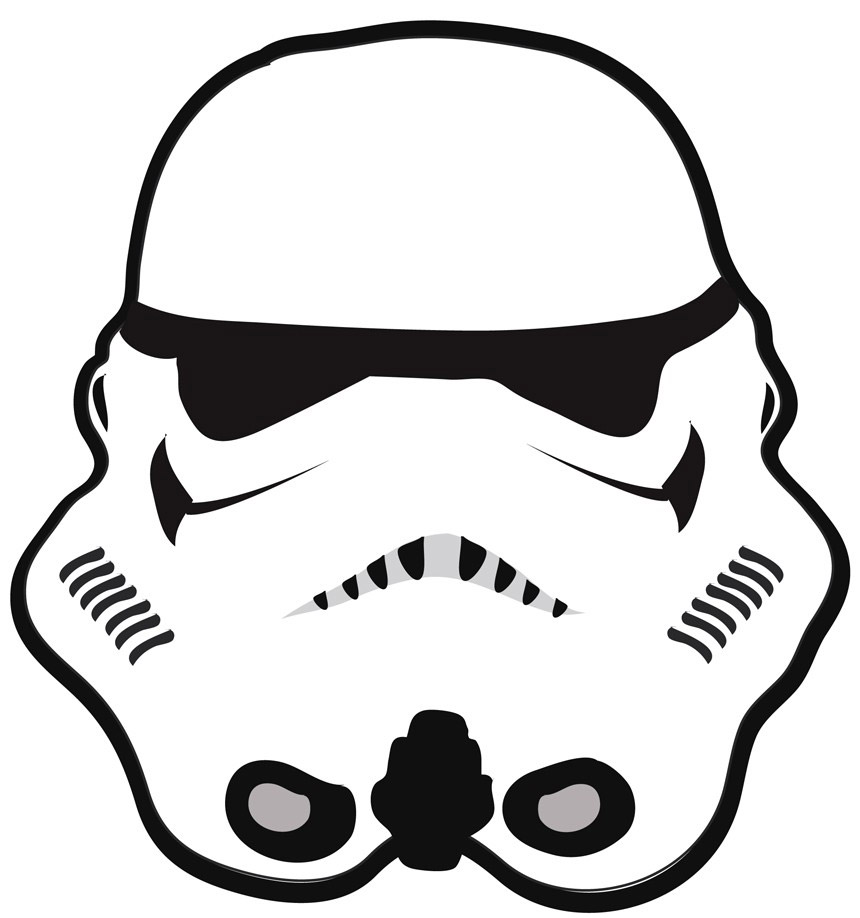 860x918 Stormtrooper Helmet Drawing