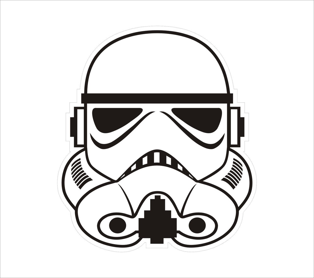 1280x1133 Stormtrooper Helmet Graphic By Markalbiar