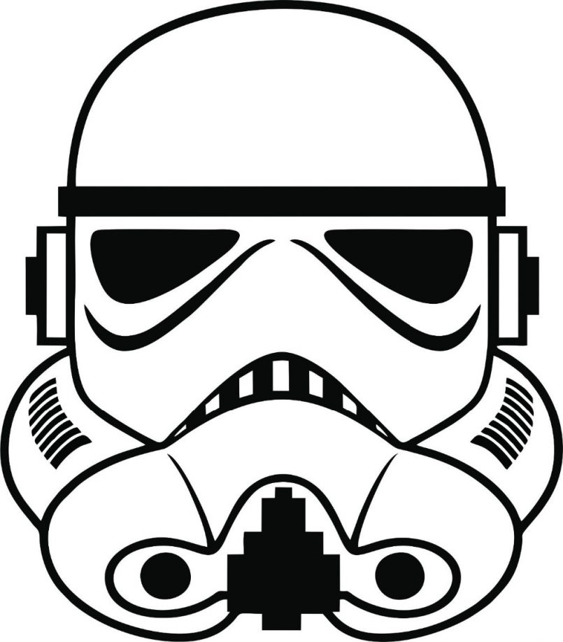 805x917 Themes New Stormtrooper Helmet Drawing As Well As Simple
