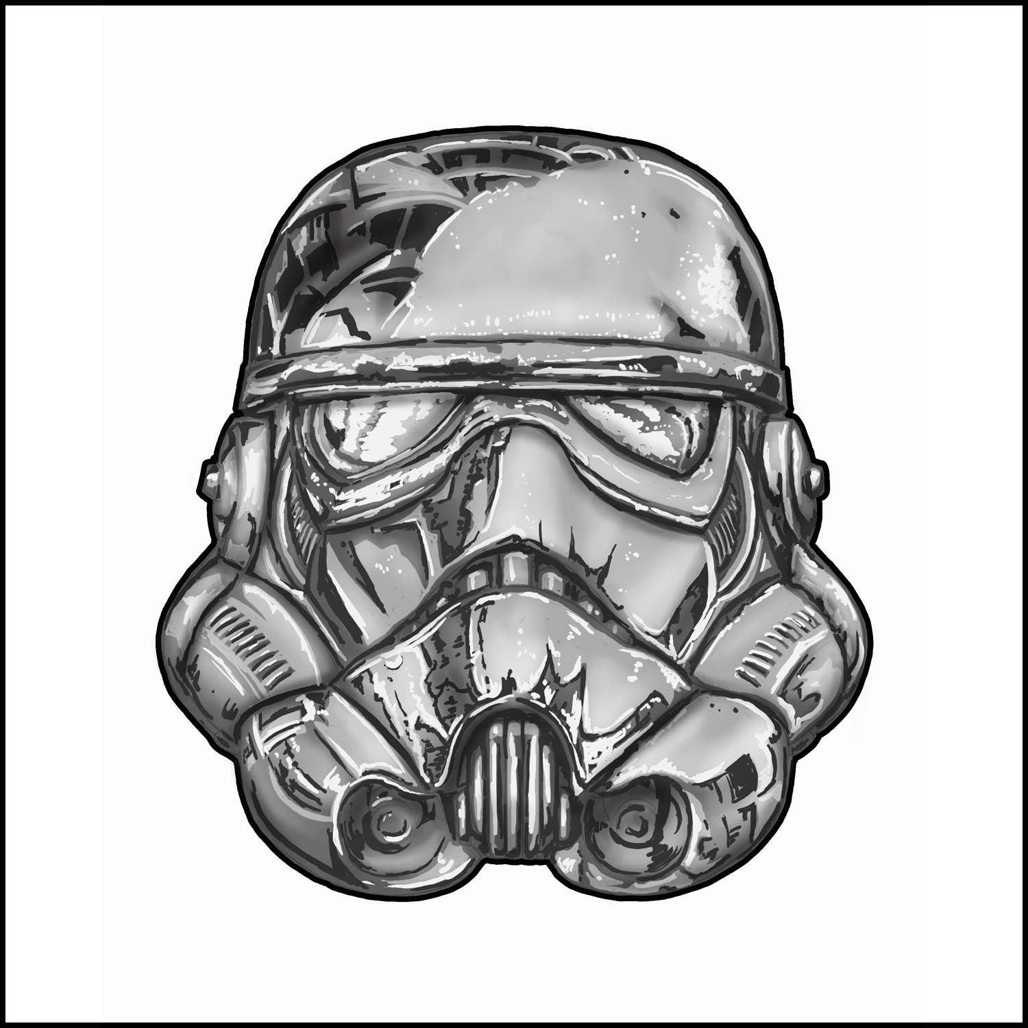 1500x1500 Themes Stormtrooper Helmet Drawing Also Stormtrooper Helmet Line