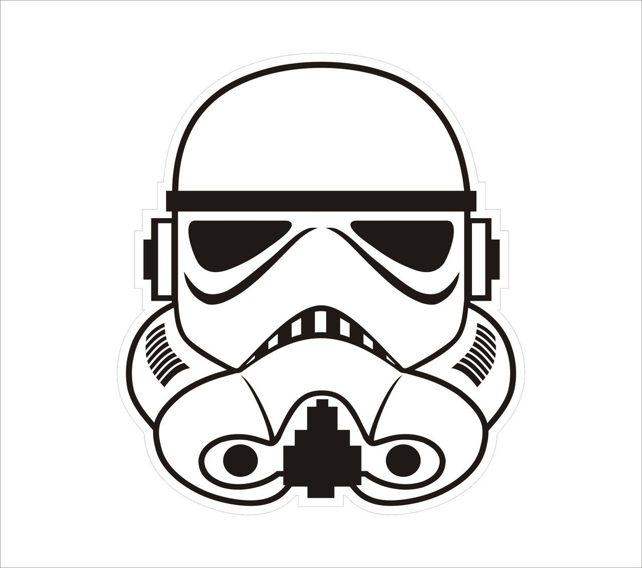 Stormtrooper Head Drawing