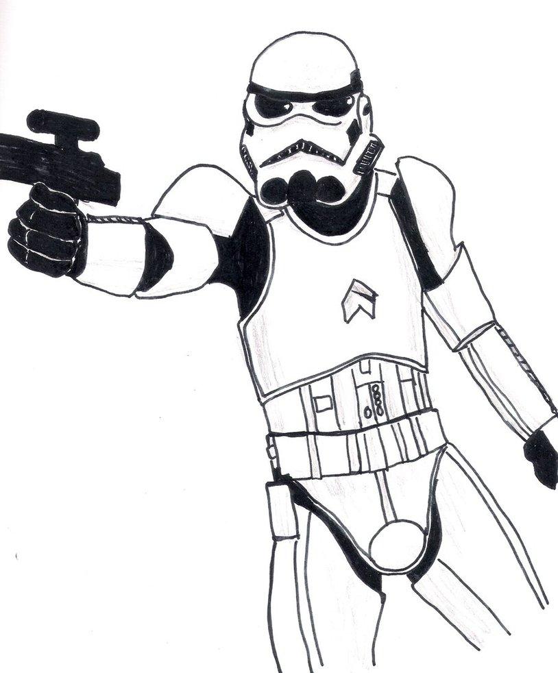 Stormtrooper Line Drawing at GetDrawings | Free download