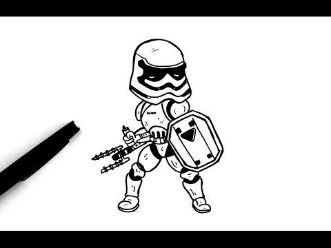 480x360 Comment Dessiner Un Stormtrooper (Chibi)