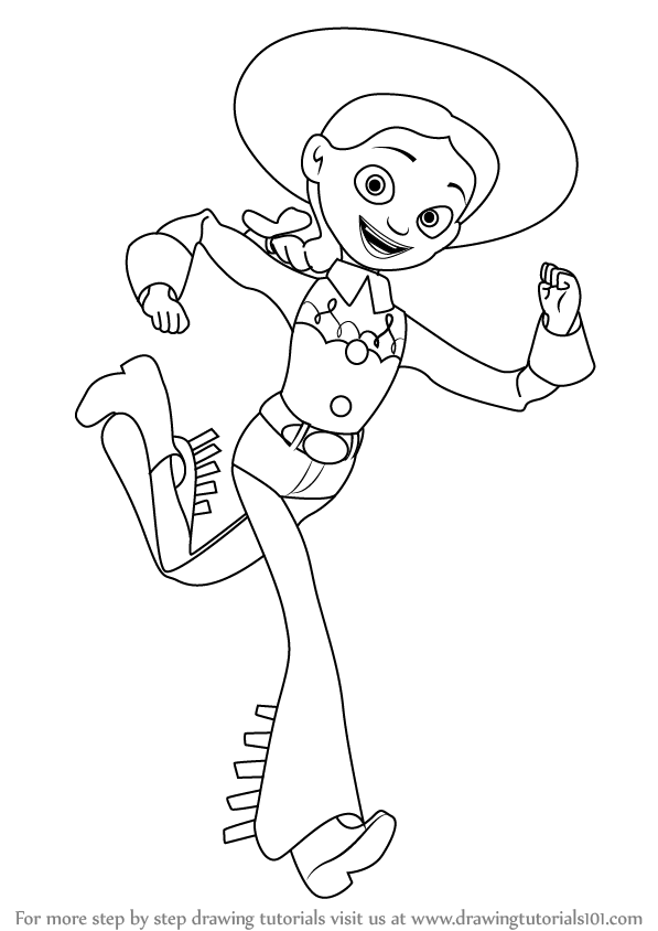 597x844 Learn How To Draw Jessie From Toy Story (Toy Story) Step By Step