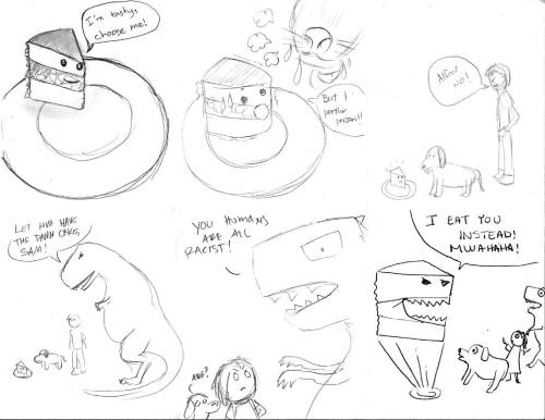 500x386 Moral Of The Story Eat Cake Before It Eats You . Drawing Meats