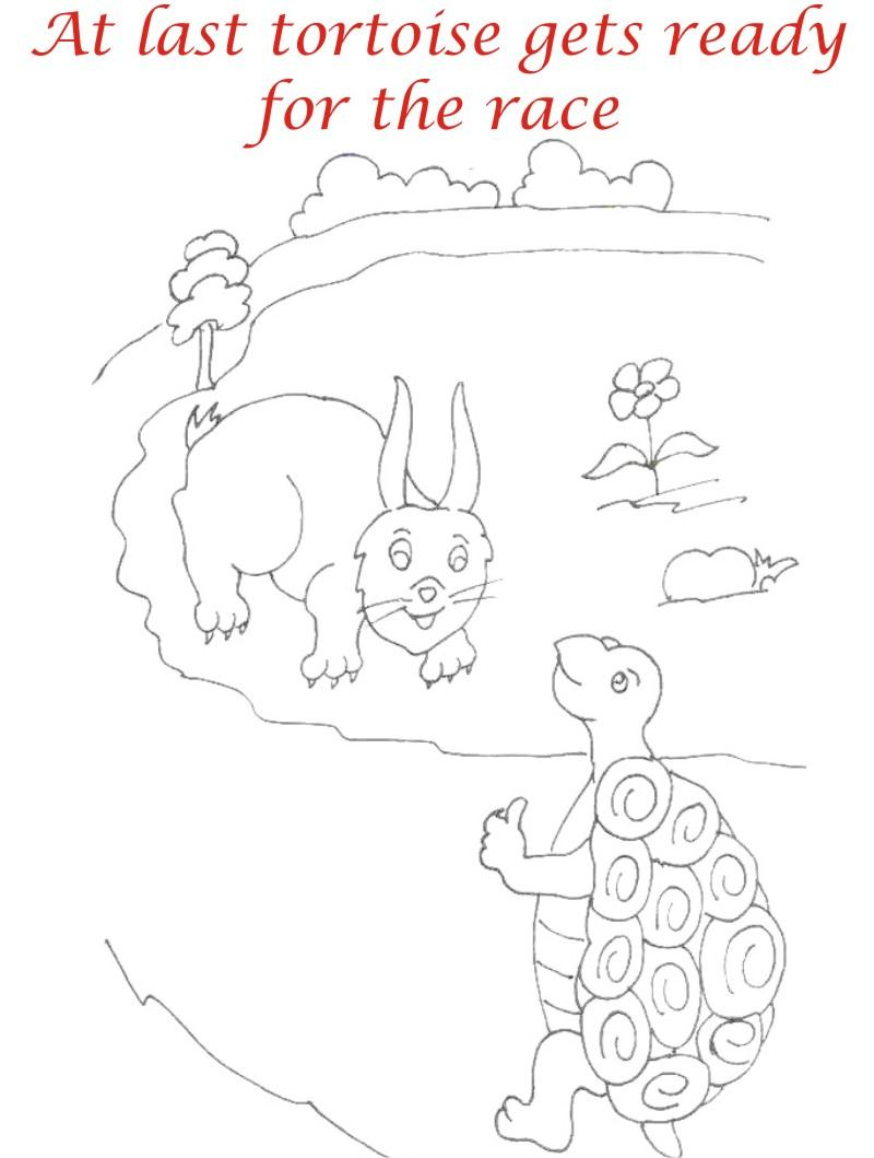 800x1059 The Racing Story Coloring Page For Kids 7