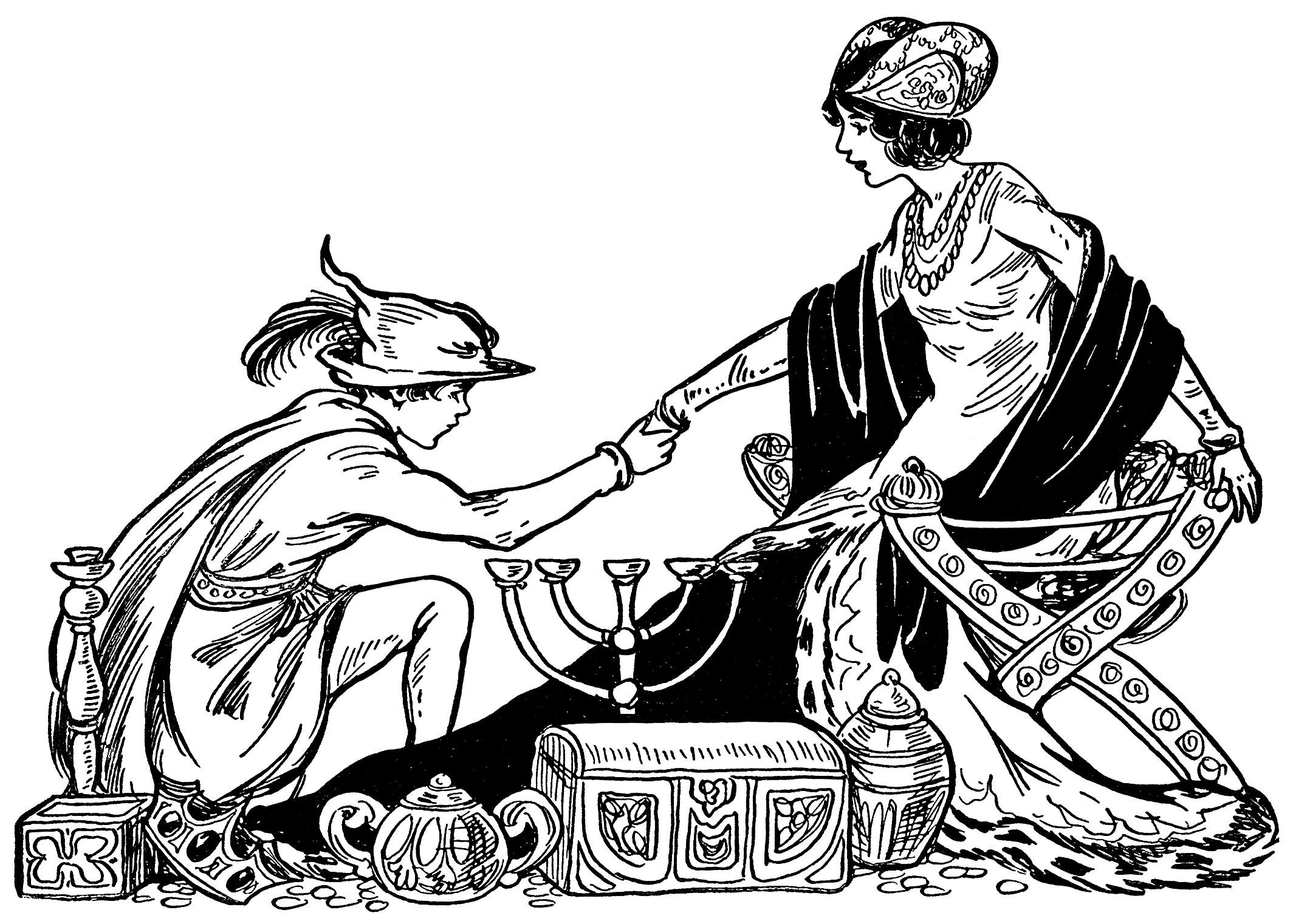 2128x1522 Fairytale Prince Princess And Treasure ~ Free Vintage Storybook