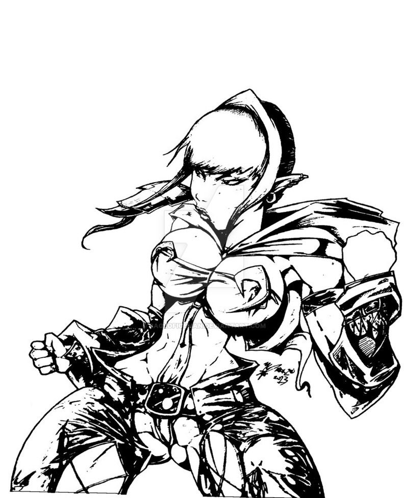 800x976 Lola (Afro Samurai Style) Black And White By Rageoficeman