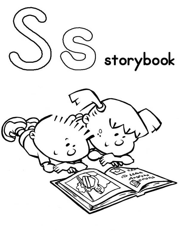 600x792 Story Book Coloring Pages