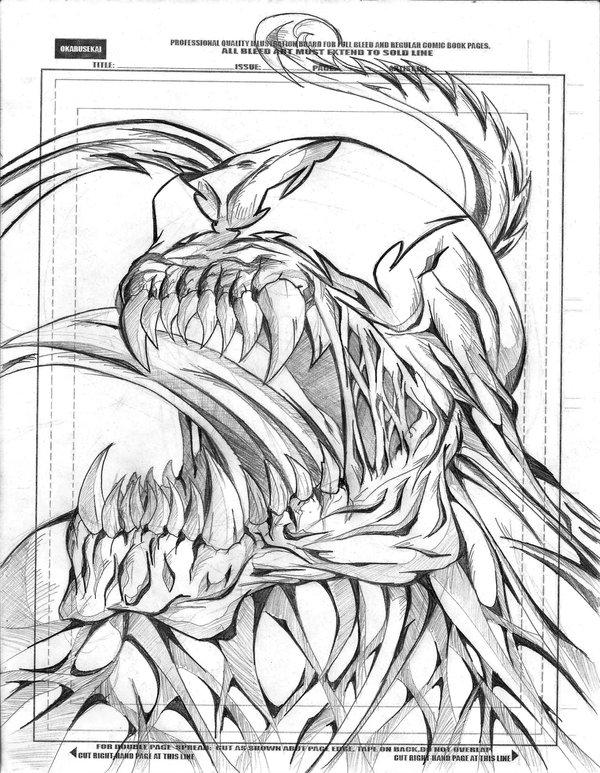 600x773 Venom Sketch By Okarusekai