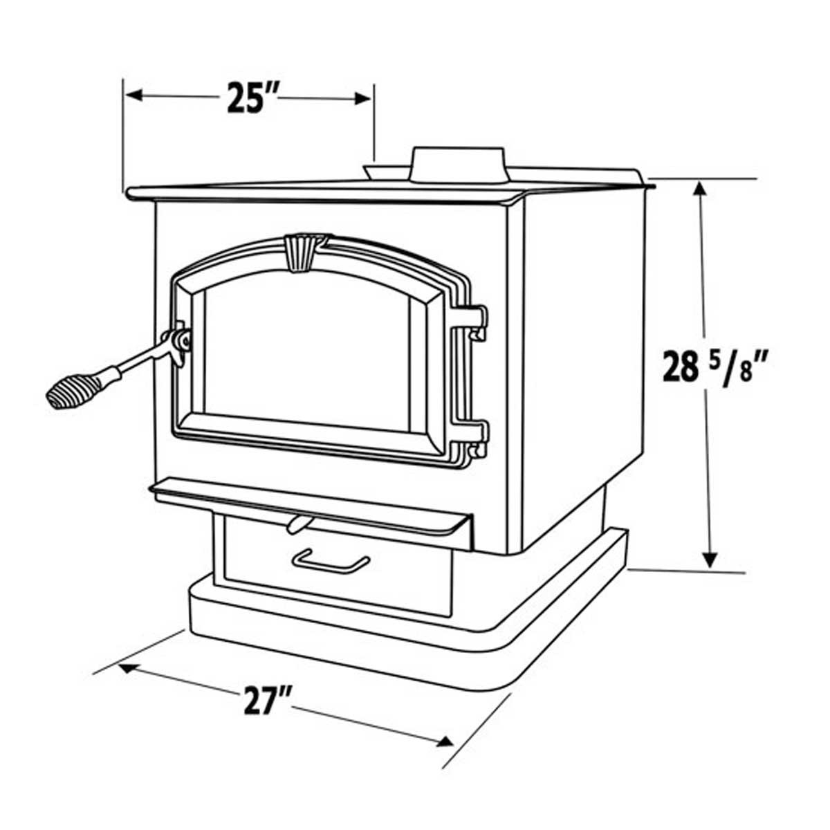 1200x1200 Drawing Of A Stove Country Hearth Woodburning Stove