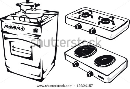 450x309 Gas Oven Drawing