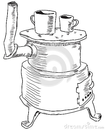 364x450 Old Time Coloring Pages Wood Burning Stove Coloring Pages