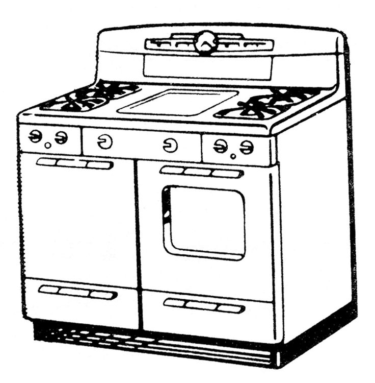 736x750 Stove Coloring Pages Stove Coloring Page