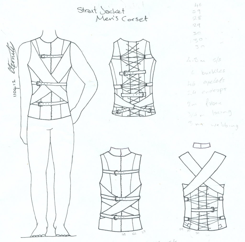1024x1008 Men's Strait Jacket Corset By Vic Dustrael