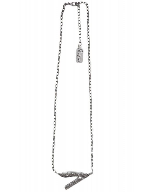 600x800 Sourpuss Clothing Straight Razor Necklace