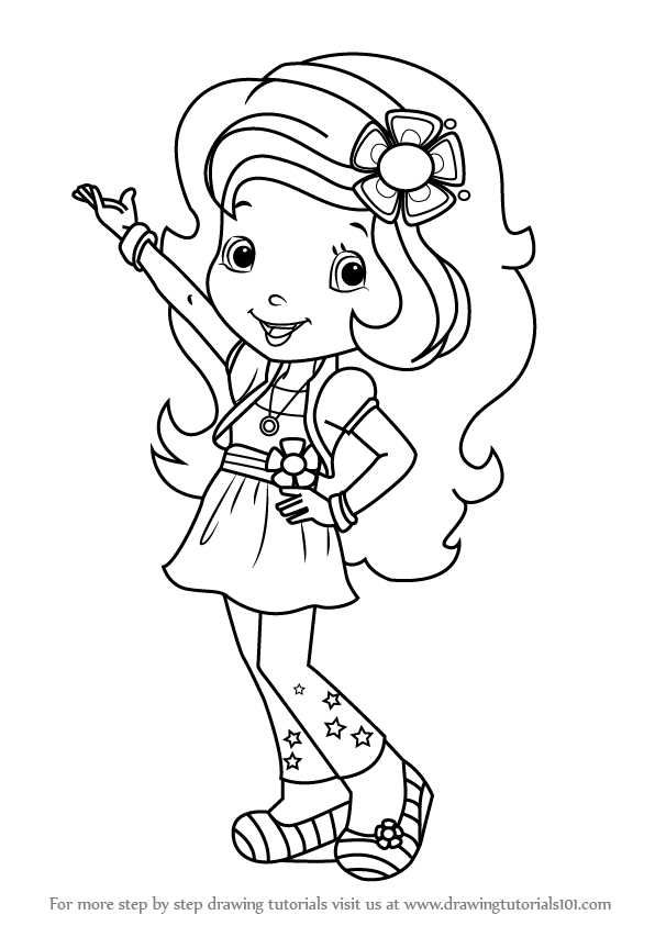 596x843 Learn How To Draw Orange Blossom From Strawberry Shortcake