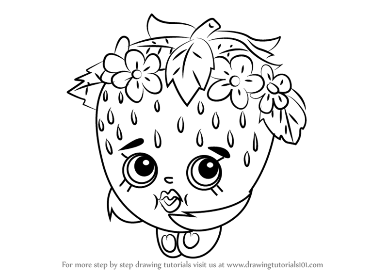 800x567 Learn How To Draw Strawberry Kiss From Shopkins (Shopkins) Step By