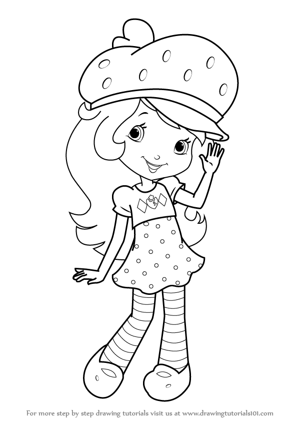 596x843 Learn How To Draw Strawberry Shortcake (Strawberry Shortcake) Step