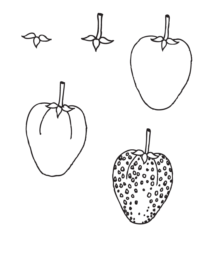 700x900 Drawing Strawberry