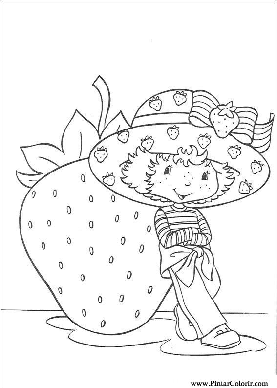 567x794 Drawings To Paint Amp Colour Strawberry Sweetheart