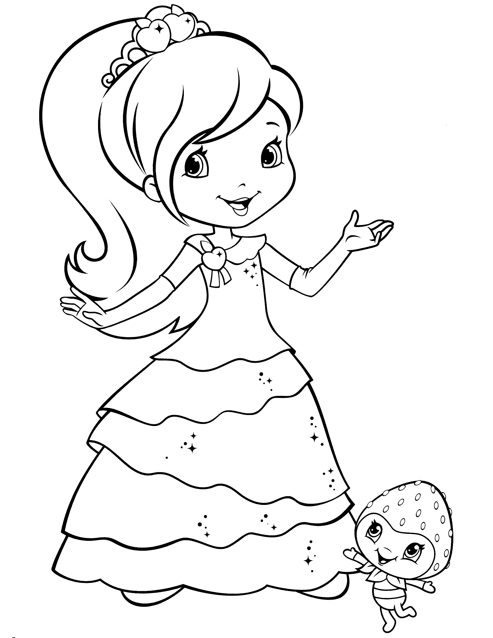 strawberry shortcake drawing at getdrawings com free for personal