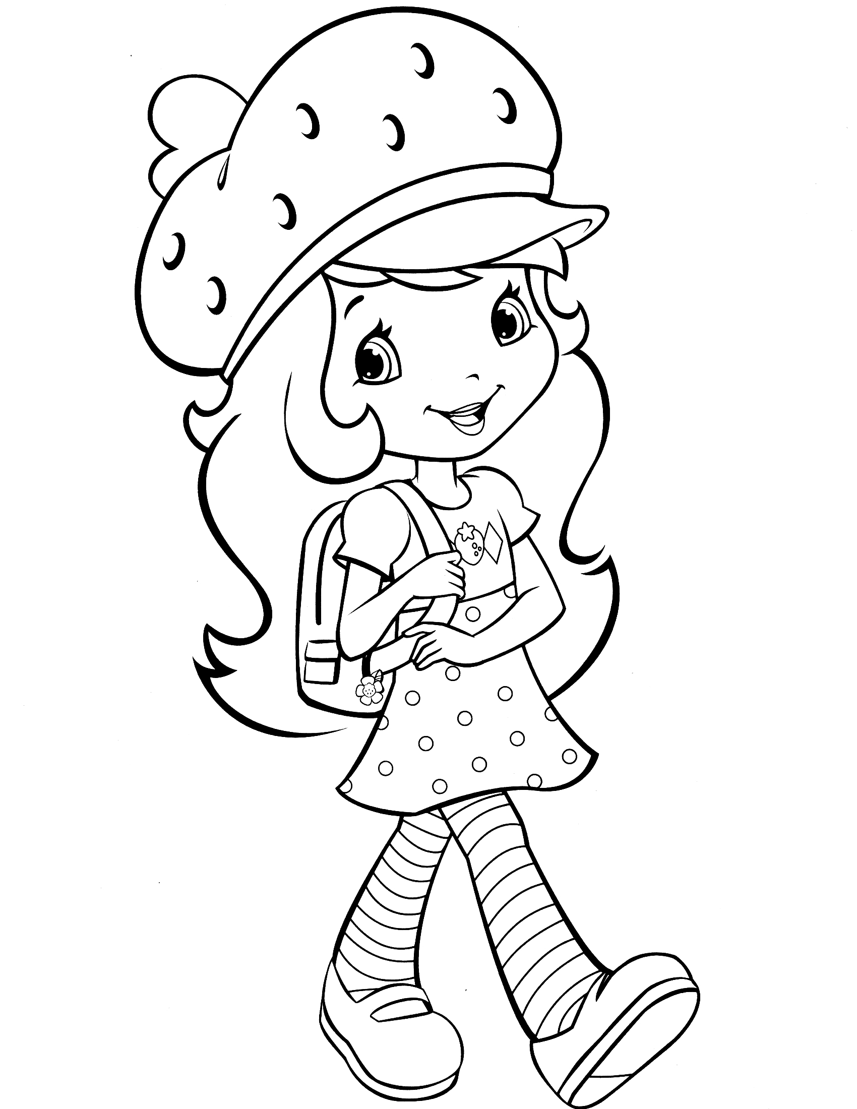 1700x2200 Strawberry Shortcake Head Coloring Pages