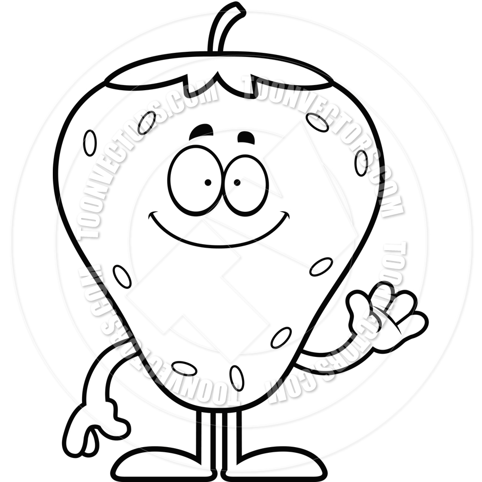 940x940 Clipart Black And White Strawberry