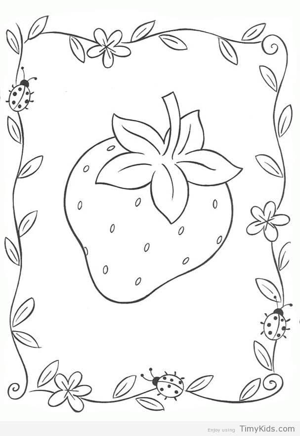 607x880 Strawberry Coloring Pages Timykids