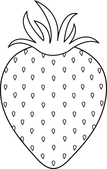 348x550 Strawberry Colorable Lineart
