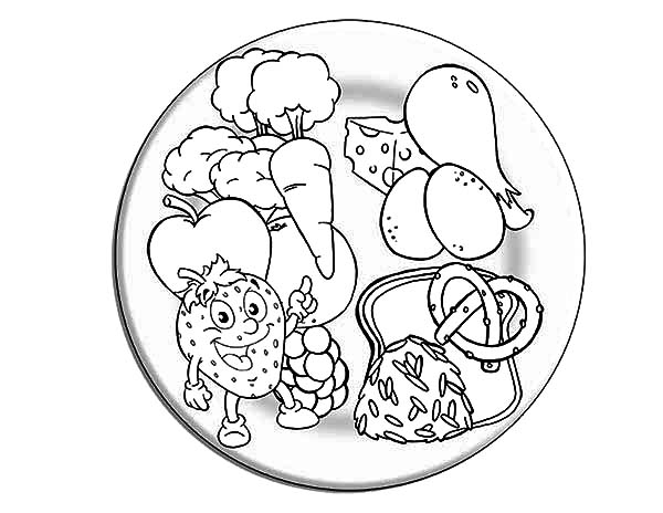 600x464 Strawberry Eating Healthy Food Coloring Pages Strawberry Eating