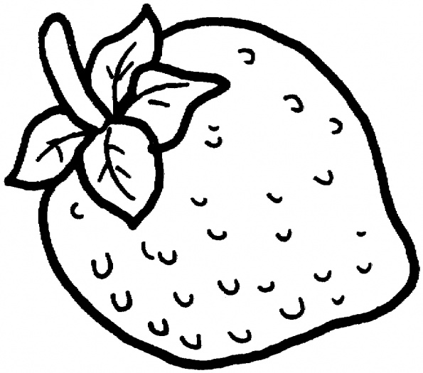 595x525 Strawberry Color Page To Use As An Embroidery Pattern
