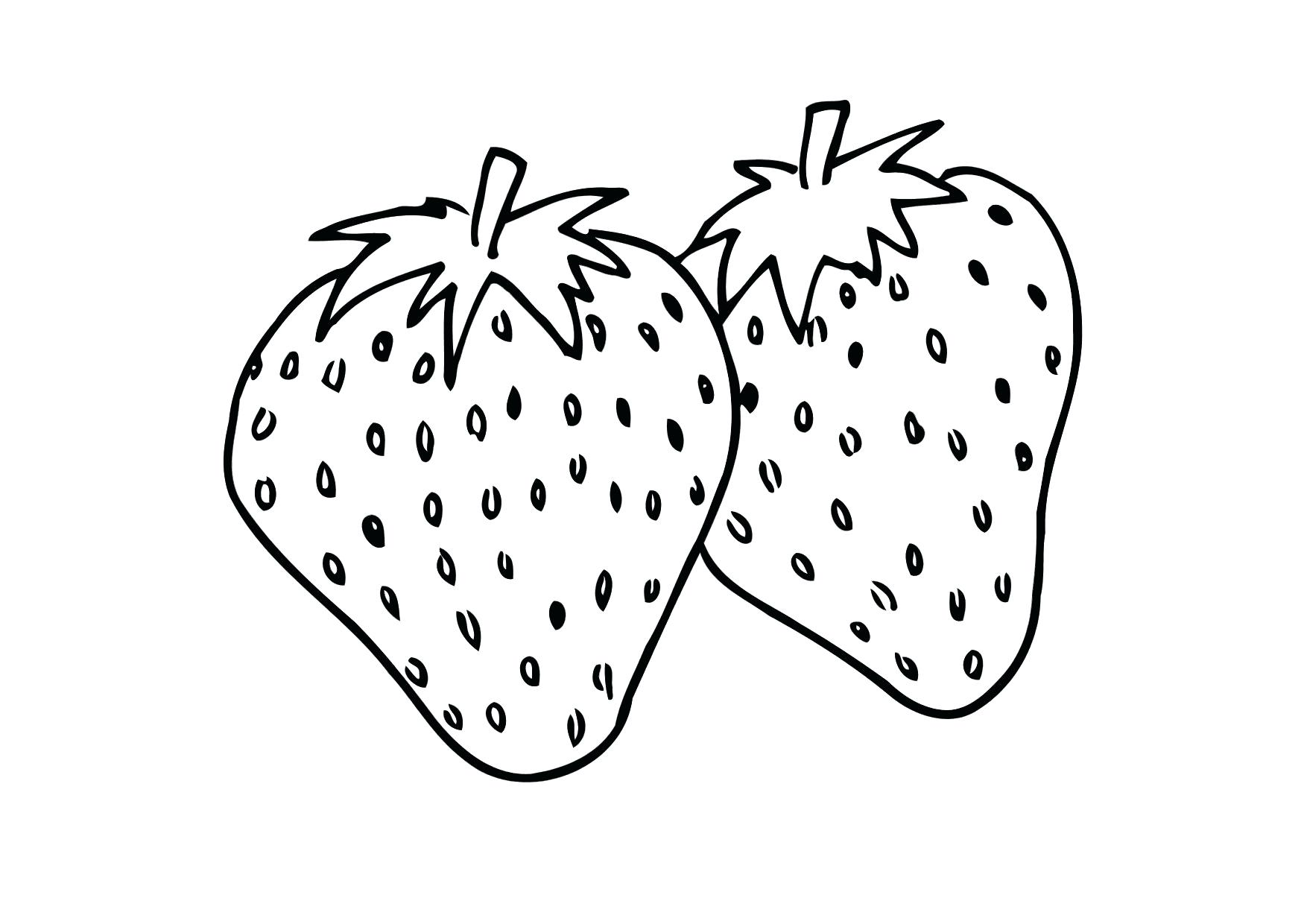 1750x1240 Coloring Strawberry Coloring Pages
