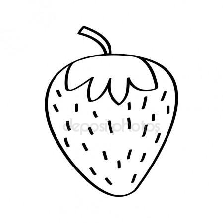 450x450 Strawberry Fresh Fruit Drawing Icon Stock Vector Yupiramos